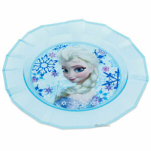 Disney Store Frozen Queen Elsa Blue Child Dinner Plate Mealtime Magic NEW