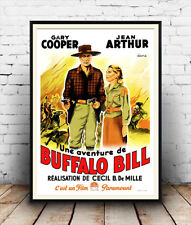 Buffalo Bill (francés): Vaquero Vintage Movie, cartel reproducción.