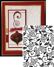 Christmas Darice Embossing Folders HOLLY VINES 1219-118 Cuttlebug Compatible