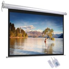 "72"" 16:9 Electric Motorized Projector Screen Home Office Film Projection Cinema"