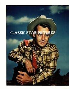 T170 Alan Ladd close up 8 x 10 glossy color photograph