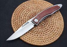 6'' New CNC 440C Blade Sebenza 21 Style Wood Handle Pocket Folding knife VTF100