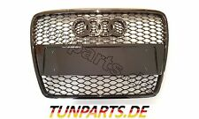 Grill für Audi A6 C6 4F ohne PDC RS6 Look Kühlergrill Frontgrill Waben Gitter