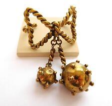 Rare Vintage Hubert Harmon Taxco Mexico Sputnik Naval Mine Brass Cuff Bracelet A