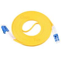 3pcs1m 3ft LC UPC to LC UPC Duplex Single Mode PVC 3.0mm Fiber Optic Patch Cable