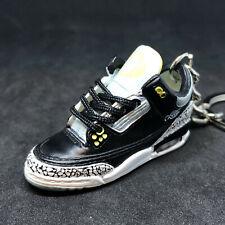 Air jordan III 3 Retro Oregon Duck Pit Crews PE Sneaker Shoes 3D Keychain Figure