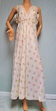 VINTAGE CHRISTIAN DIOR      FLORAL LONG NIGHTGOWN       SMALL      OLD HOLLYWOOD
