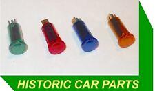 4 coloured dashboard Warning lights Amber Blue Green Red 12 Volt