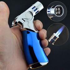 JOBON Quad 4 Jet Turbo Torch Refillable Cigarette Cigar Windproof Lighter Blue