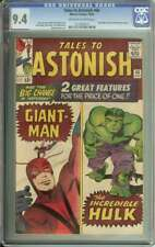 TALES TO ASTONISH #60 CGC 9.4 OW/WH PAGES // GIANT-MAN + HULK DOUBLE FEATURE