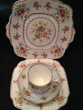Royal Albert English China Cake Plate, Dessert Plate, Cup & Saucer Petit Point