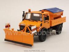 Mercedes Unimog 1300L Orange Schneepflug - Snowplow - 1:43 MINICHAMPS 439033060