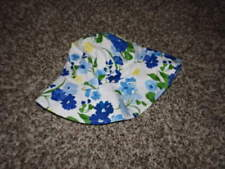 JANIE AND JACK 4-5 BLUE FLORAL HAT CLASSIC SPRING