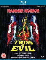 Twins of Evil Blu-Ray (2014) Peter Cushing, Hough (DIR) cert 15 ***NEW***