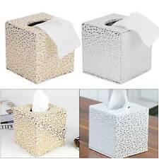 Tissue Box Holder Carved Cube Square Napkin Dispenser Bedroom Office Reception