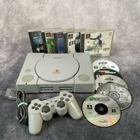 Sony PlayStation 1 PS1 SCPH-7502 PAL Console & Controller + 10 Game Bundle