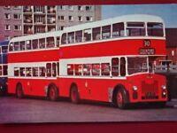 POSTCARD STOCKPORT TRANSPORT 1960 LEYLAND TITAN PD2 BUS NO 347