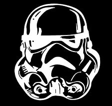 Star Wars Storm Trooper Helmet Vinyl Decal Sticker Car Truck Window