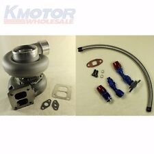 "DRAIN LINE+OIL FEED+GT45 600+HP T4/T66 3.5""V-BAND 1.05 A/R 92 TRIM TURBO CHARGER"