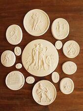 #2 14 scene Grand Tour Cameo Intaglios Medallions Seal Plaster Tassie miniatures
