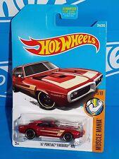 Hot Wheels 2017 Muscle Mania Series #263 67 Pontiac Firebird 400 Dark Red w ST8s
