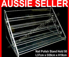 5 Tier Nail Polish Stand Hold 50-55 High Quality Acrylic Rack Fit OPI Bottle