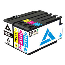 4Pack 950 XL 951 XL Ink Cartridge For HP Officejet Pro 8600 8620 8625 8630 +Chip