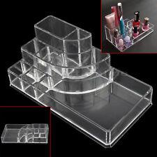 Makeup Storage Acrylic Transparent Box Organiser Cosmetic Display Case 8 Tips