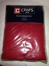NEW Chaps Home Red Hudson Herringbone Tablecloth Oblong 60x102