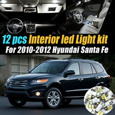 12Pc Super White Car Interior LED Light Bulb Kit for 2010-2012 Hyundai Santa Fe