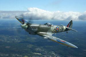 A3 SPITFIRE3 PLANE POSTER ART PRINT BUY2GET1FREE! - AIRFORCE/WAR/FIGHTER