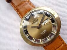 VERY RARE VTG GOLD PLATED SWISS FORTIS SKYLARK HIFI-MATIC GENTS AUTOMATIC WATCH