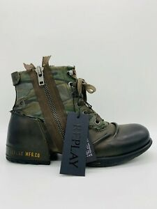 Replay Herrenschuhe Shoes Stiefeletten Schuhe Boots Clutch Military Green Camou