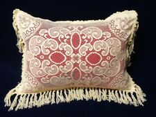 Victorian Style Ecru/Ivory Looped Knotted Fringed Standard Pillow Sham