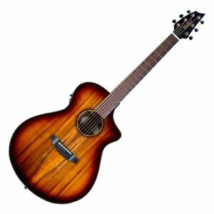 Breedlove Pursuit Exotic S Concert CE Edgeburst All Koa Acoustic Electric Guitar