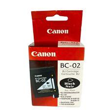 CANON BC-02 BJ Printer Cartridge Black BJ 100 BJ 210/240 BJ 200/200e/200ex/230