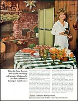 1968 Anne Baxter photo Sears coldspot refrigerators vintage Print Ad adL33