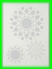 Stencil / Flex- Schablone - Mandala - DIN A4 / 3 teilig - Scrapbooking