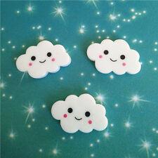 ENW 8pcs Cute Resin Cloud White flat back Scrapbooking For DIY phone /craft