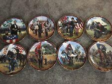 Vintage Civil War 8 Rare Collector Plates~Abe, Grant, Lee,Stuart, Stonewall, Ste