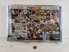 """1000 Piece F.X. Schmid Puzzle """"A Time To Look Back"""" 20th Century News stand"""