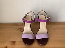 Cole Haan Air Magenta purple colorblock slide sandals heels sz 6B