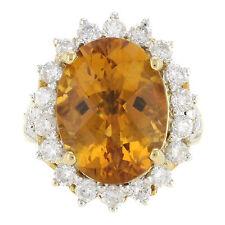 Echtschmuck im Cocktail-Stil aus Gelbgold mit Diamanten Ringe für Damen