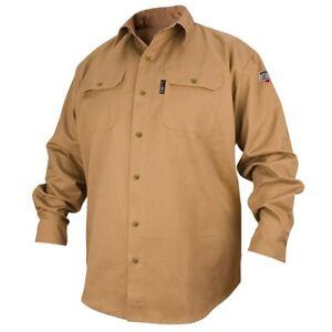 Revco Black Stallion Khaki 7oz FR Welding Shirt (X-Large) (FS7-KHK)