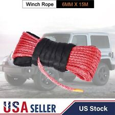 """1/4""""x 50' Synthetic Winch Rope Line Cable For 4Wd Suv Pickup 8000/8200/10000 Lb"""