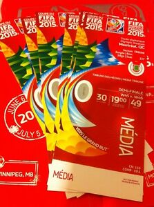 Fifa Womens World Cup 2015 Montreal Full Set Of Media 7 Tickets . USA , GER, Etc