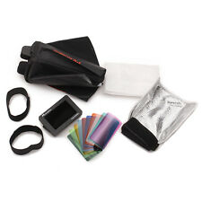 Speedlite Accessory Kit with softbox, grid, bounce flap and Velcro mounting kit