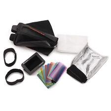 Speedlite Kit De Accesorios Con Solapa Softbox, Cuadrícula, rebote y kit de montaje de Velcro