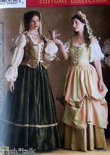 Andrea Schewe costume pattern Renaissance dress headpiece blouse size 10-14