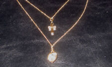 AVON BIONCA DOUBLE STRAND CROSS NECKLACE - New in Box!